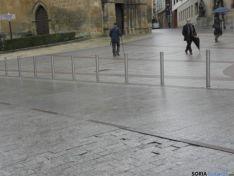 Foto 3 - Las baldosas de San Juan de Rabanera no se repararán hasta que no terminen las obras