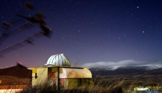 Imagen nocturna del observatorio de Borobia. / ccborobia.com