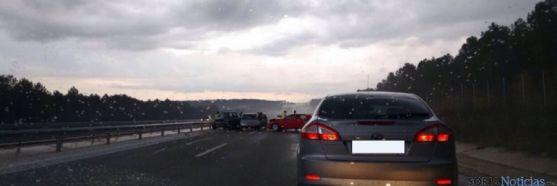 Vehículos accidentados en la A15