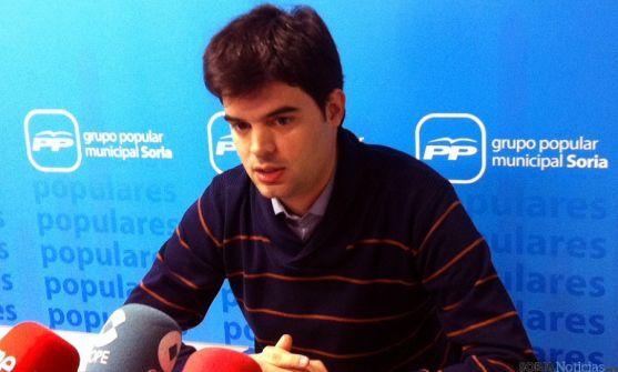 Javier Sanz, concejal del PP en el Ayuntamiento de Soria.
