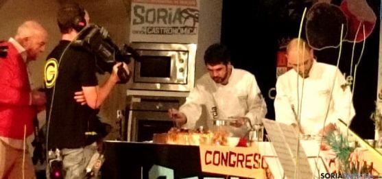Una de las exhibiciones del 'Soria Gastronómica'. / SN