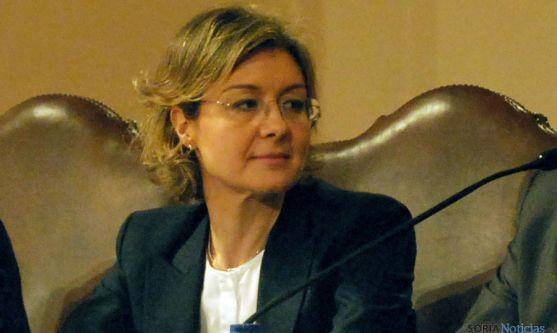 Isabel García Tejerina, en una visita a Soria. / SN