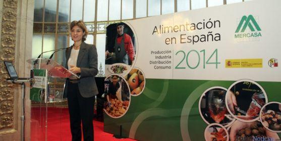 García Tejerina presentando el informe anual de MERCASA. / MAGRAMA