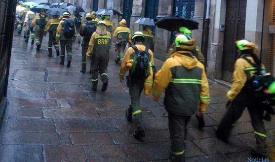 Empleados de la Brif en Santiago de Compostela.