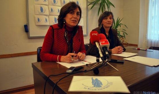 Consuelo Campos (izda.) y Pilar Ruiz, del grupo de trabajo Sor María de Jesús. / SN