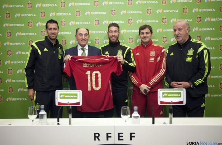Galán, Del Bosque, Busquets, Ramos y Casillas