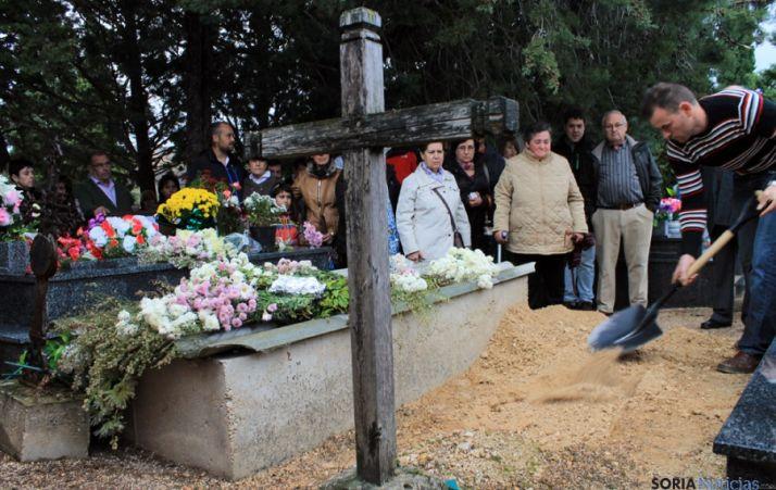 El cementerio de San Esteban este domingo.