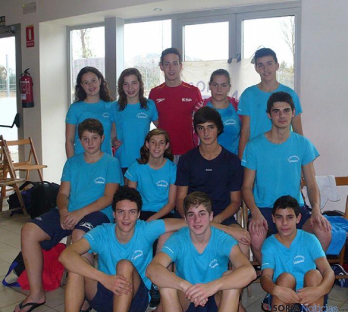 Nadadores que fueron a Logroño