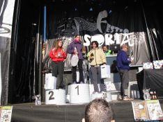 Los distintos podios con los ganadores.