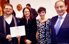 David Galve (izda.), Montserrat Gomendio, Natalia Ceña y Ángel de Miguel
