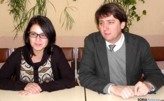 Adriana Lastra y Carlos Martínez