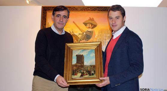 El cuadro donado por la galería CortabitArte. / Dip.
