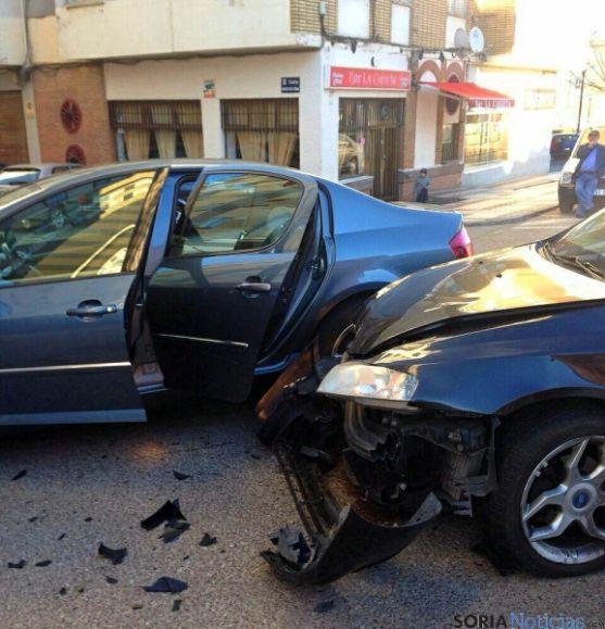 Estado de los vehículos tras el accidente. / SN