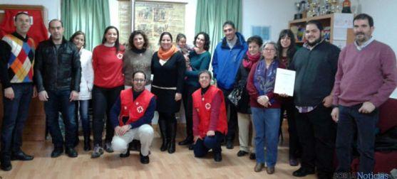 Miembros de Cruz Roja de El Burgo