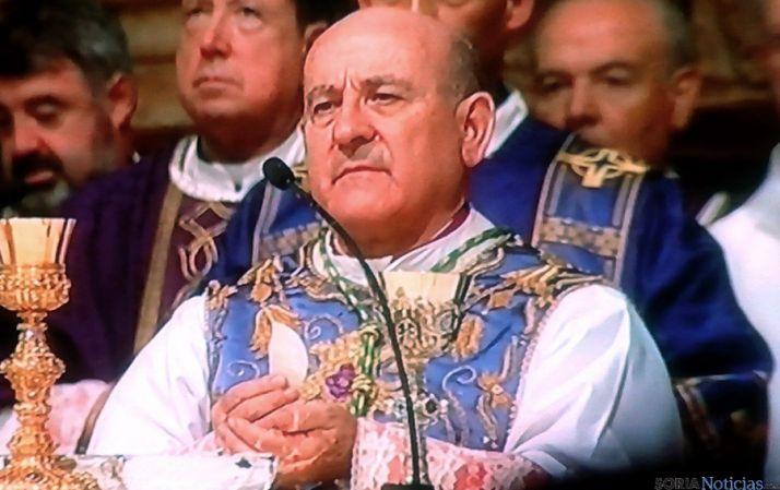 El prelado agredeño en su toma de posesión como arzobispo de Zaragoza. / SN