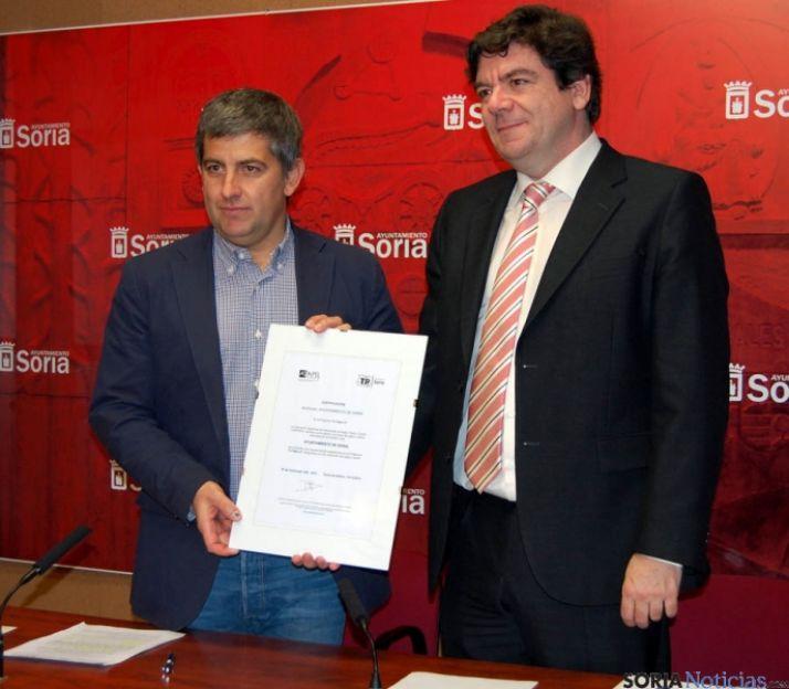 Javier Antón (izda.) y David Barrio. / Ayto.