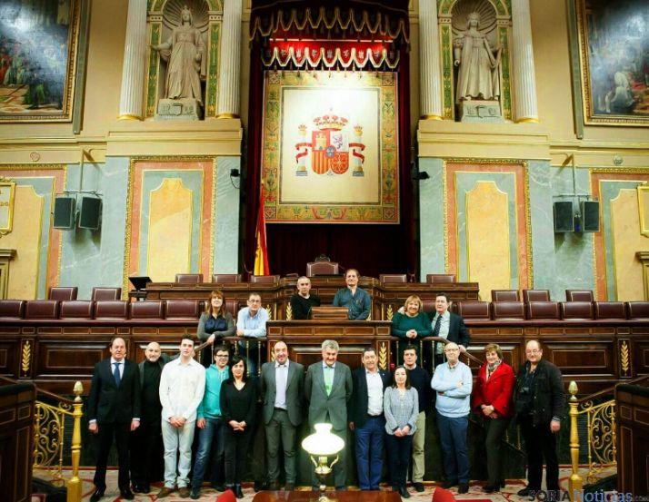 Los periodistas, con Posada en el Congreso. / SN
