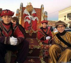 Los Reyes, en su visita a Arcos. / SN