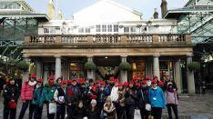 Los estudiantes, en la capital inglesa.