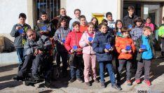 Los ajedrecistas participantes en Fuentes de Magaña.
