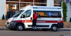 Un vehículo de transporte sanitario en Soria. / SN