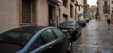 Algunos de los vehículos aparcados frente al Machado. / SN