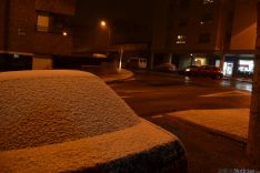 La nieve aparece en la capital. / SN