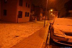 Distintas calles de la capital soriana durante la nevada. / SN