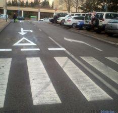 La calle, con la nueva señalización. / SN