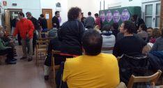Imagen de la convocatoria de Podemos Soria este jueves. / SN
