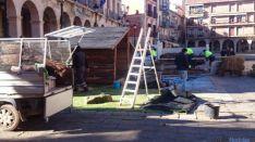 Recogida del Belén navideño en Soria