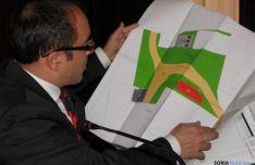 Luis Rey, con el proyecto de Las Casas