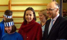 María Seguí, junto al delegado del Gobierno, este martes en Soria. / Sudeleg.