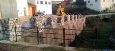 La barandilla en el Barranco del Gato.