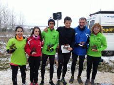 Germán Fernández y Ana Martínez, ganadores del cross de Los Llamosos