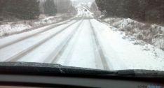 Estado de una carretera local de la provincia
