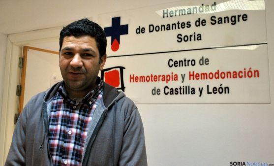 Ahmed El Boutaybi, presidente de la Comunidad Islamica en Soria. / SN