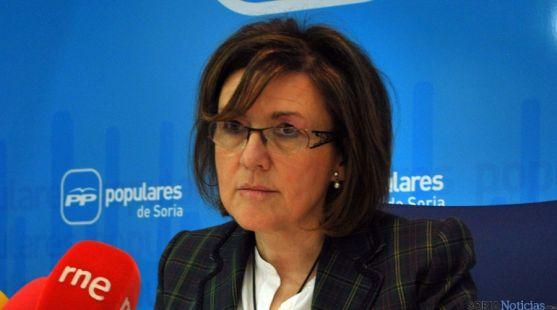 La presidenta de los populares sorianos, Marimar Angulo. / SN