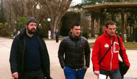 Fernández (izda.), Andrés y Del Castillo este miércoles en la Dehesa.