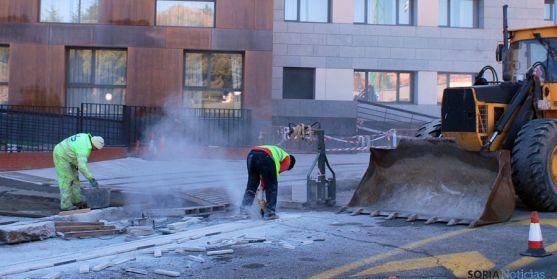 La construcción, uno de los sectores que repuntan en Soria. / SN