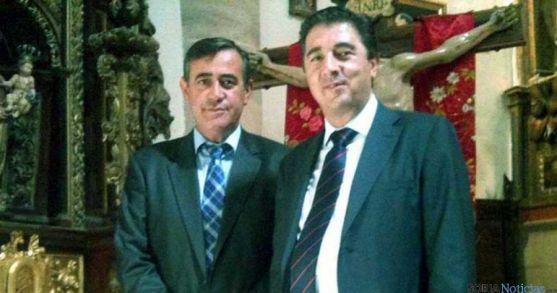 Jesús Peregrina, a la derecha, con Antonio Pardo en las fiestas de Arcos. / SN