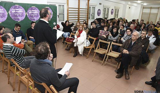 La asamblea de Podemos este jueves. / SN