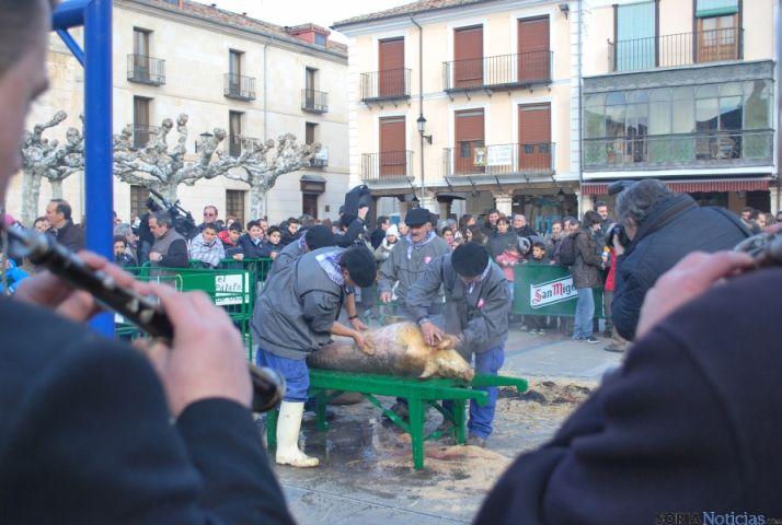Una de las escenas del sacrificio del cerdo. / SN