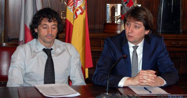 Mínguez (dcha.) y Moreno este miércoles en rueda de prensa. / Ayto.