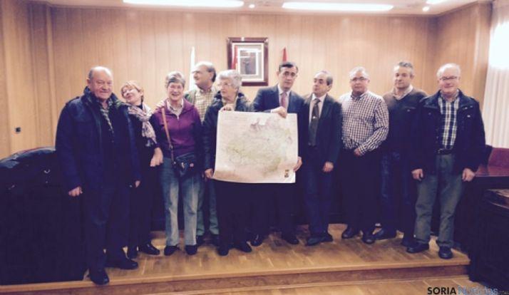 Pardo con los alcaldes de la Ribera