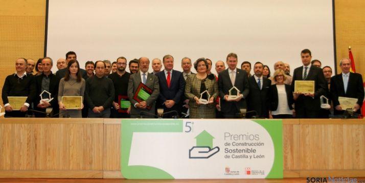 Premios de Construcción Sostenible de Castilla y León, este martes. / Jta,