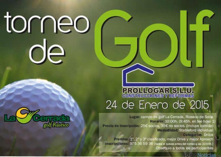 Cartel del torneo de Golf Prollogar