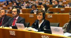 Marimar Angulo en el Parlamento Europeo.