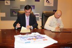 Firma del convenio Pardo y Luque