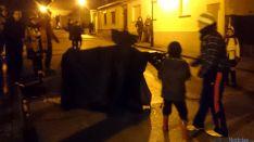 Salida de 'la vaquilla' en Navaleno